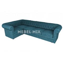 Пятиместный диван Chester шинилл, изумруд