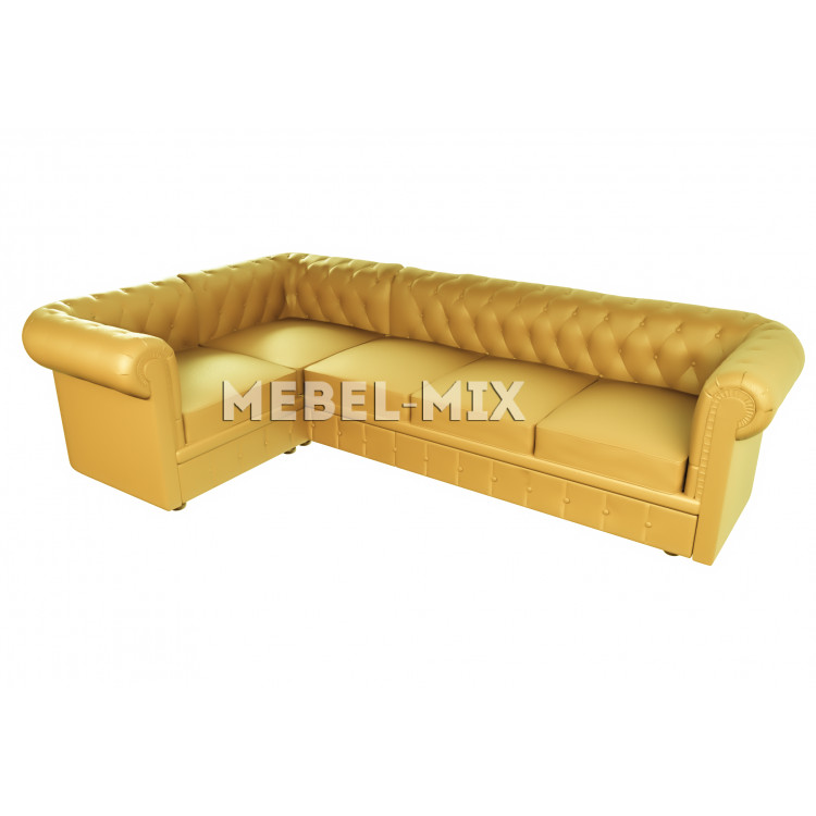 Пятиместный диван Chester микровелюр, желтый