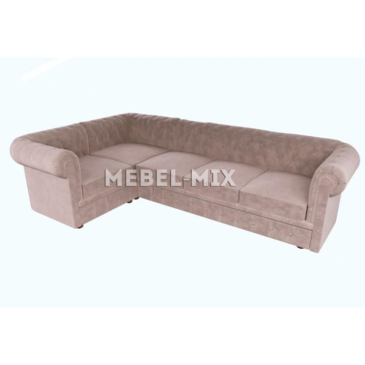 Пятиместный диван Chester микровелюр, кофе