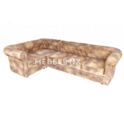Пятиместный диван Chester из кожи, винтаж коричневый