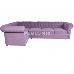 Пятиместный диван Chester велюр, сиреневый