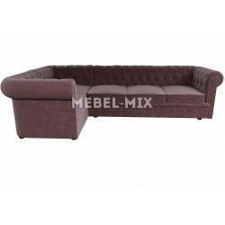 Пятиместный диван Chester микровелюр, шоколад