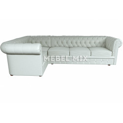 Пятиместный диван Chester микровелюр, белый