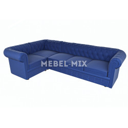 Пятиместный диван Chester велюр, васильковый