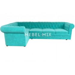 Пятиместный диван Chester кашемир, бирюзовый