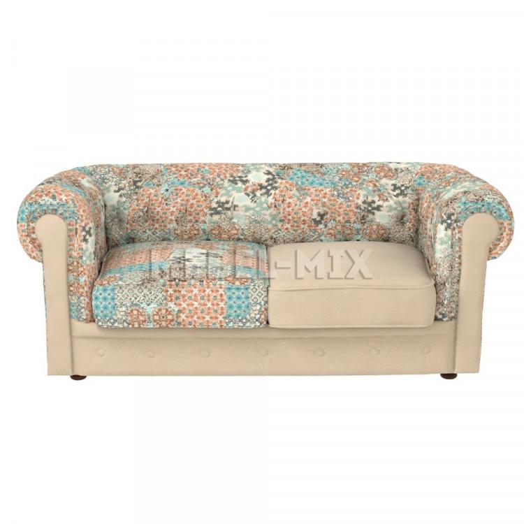 Двухместный диван Честер Chester в стиле пэчворк