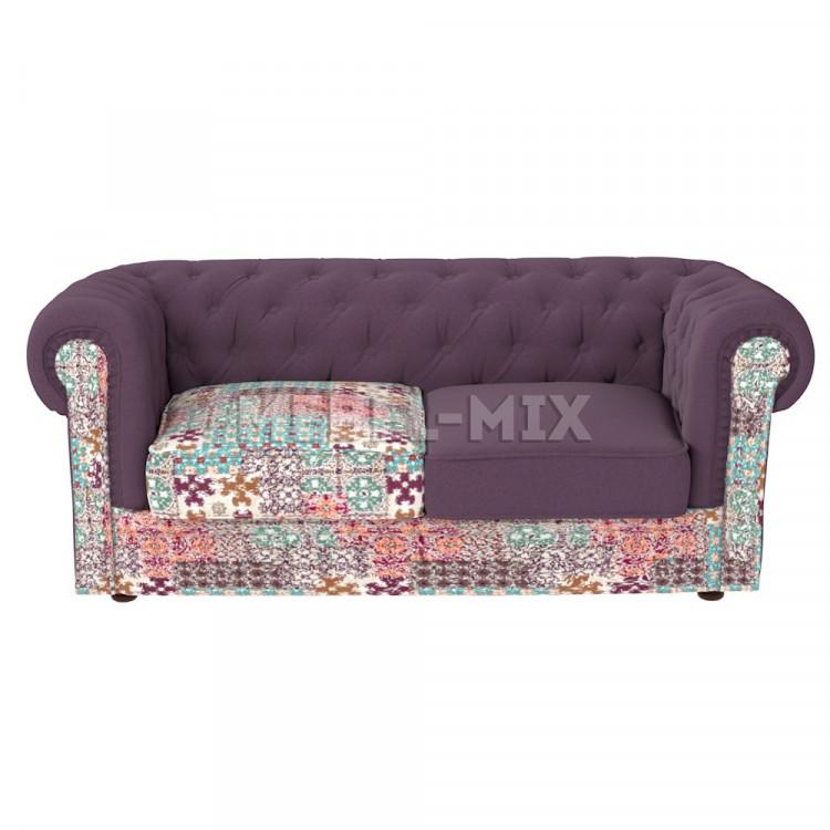 Двухместный диван Честер Chester, фиолетовый
