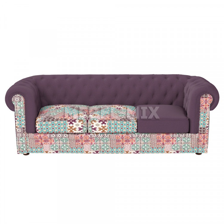 Трехместный диван Честер Chester, фиолетовый