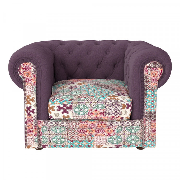 Кресло Честер Chester, фиолетовое