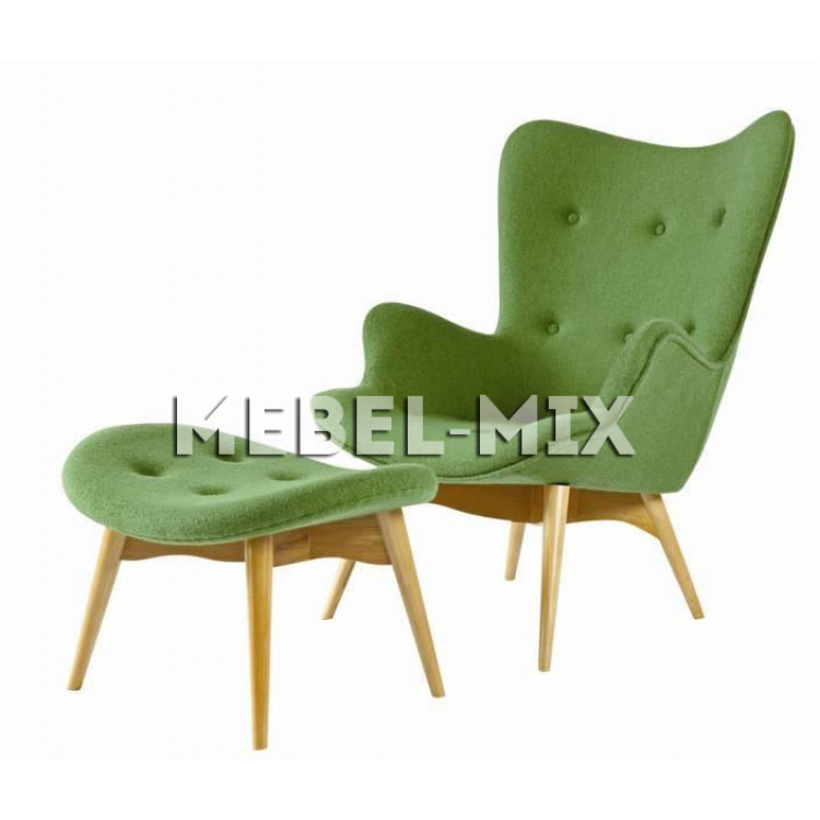Кресло Contour, зеленое