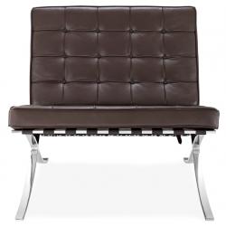 Кресло Барселона, коричневое