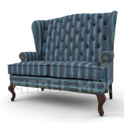"""Каминный диван с ушами, модель """"Фулда"""" 166 см."""