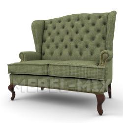 """Английский диван с ушами, модель """"Корфу"""" 136 см."""