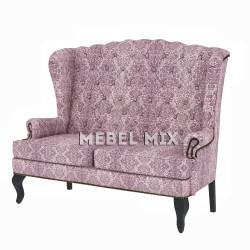 """Каминный диван с ушами, модель """"Ваниль"""" 151 см."""