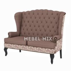 """Каминный диван с ушами, модель """"Роксана"""" 166 см."""