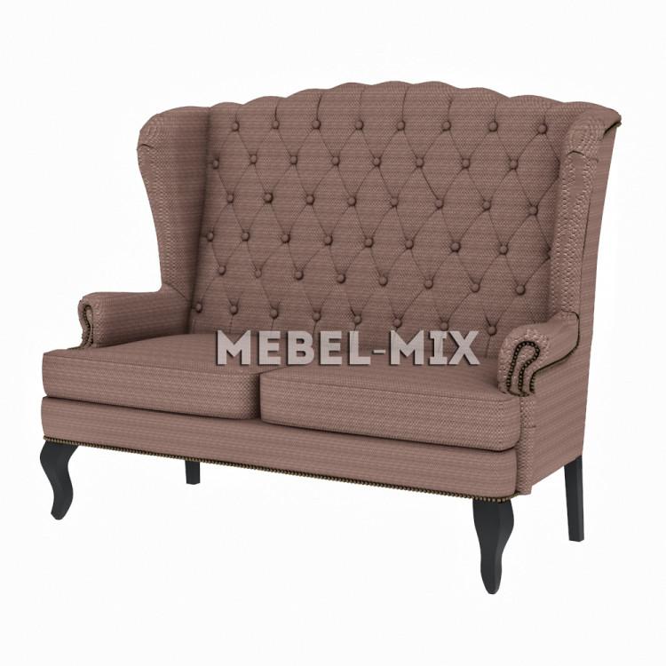 """Каминный диван с ушами, модель """"Ромб"""" 166 см."""