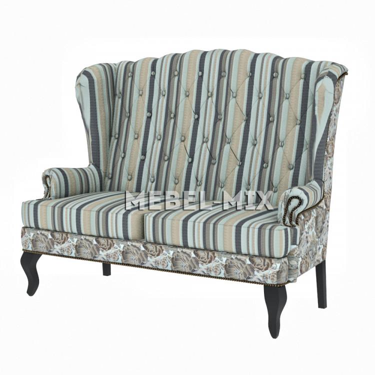 """Каминный диван с ушами, модель """"Эрика"""" 166 см."""