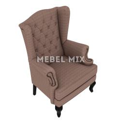 """Каминное кресло с ушами, модель """"Ромб"""""""
