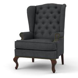 Каминное кресло с ушами, мокрый асфальт