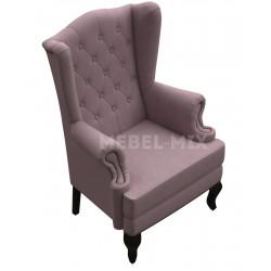 Каминное кресло с ушами, лавандовое