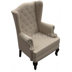 Каминное кресло с ушами, серое