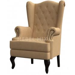 Каминное кресло с ушами, бежевое