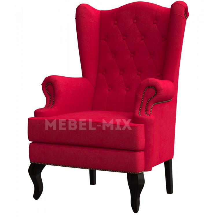 Каминное кресло с ушами, красное