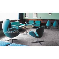 Кресло Swan Chair синее