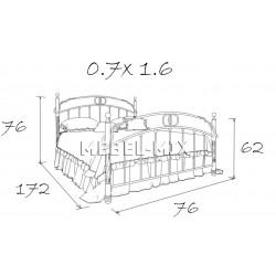 Металлическая детская кровать Аристо
