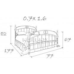 Железная детская кровать Бабочка