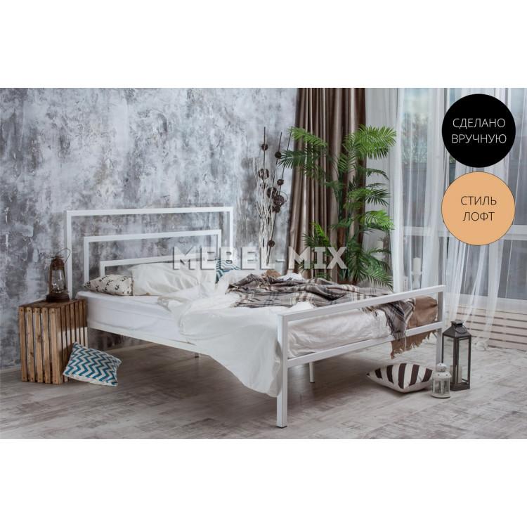 Металлическая кровать Атланта в стиле лофт